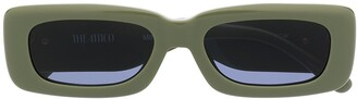 Linda Farrow x The Attico rectangular frame sunglasses