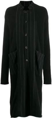 UMA WANG striped midi coat