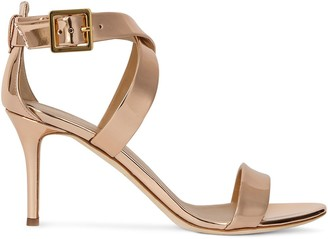 Giuseppe Zanotti Metallic Cross-Strap High-Heel Sandals