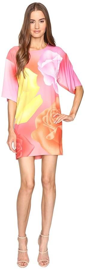 Moschino Floral Silk Tee Women's Dress
