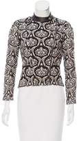 Yigal Azrouel Leather-Trimmed Lace Jacket