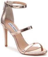 Steve Madden Women's Feelya Sandal -Rose Gold Metallic Faux Patent