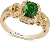 LeVian Le Vian® Chrome Diopside (1-1/3 ct. t.w.) and Diamond (1/6 ct. t.w.) Ring in 14k Gold