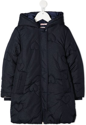 Billieblush Heart Quilted Coat