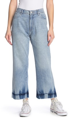 DL1961 Hepburn High Waist Wide Leg Released Hem Jeans
