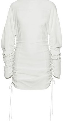 Thierry Mugler Ruched Stretch-cady Top