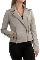 Bar III Motorcycle Jacket - Vegan Leather (For Women)
