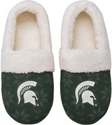 Unbranded Women's Michigan State Spartans Ugly Knit Moccasin Slippers