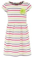 Joules Multi Stripe Dress with Corsage