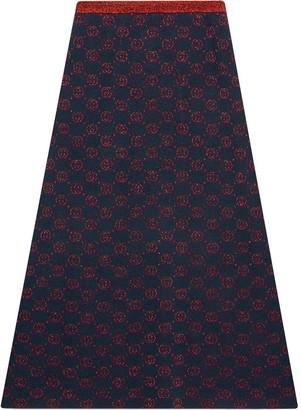 Gucci Monogram Jacquard-Knit Skirt