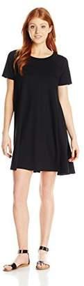 Paper Crane Papercrane Women's Short Sleeve High Neck Dress with Back Zipper