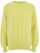 Topshop Braided cable knit sweater