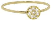 Jennifer Meyer Yellow Gold Diamond Circle Stacking Ring