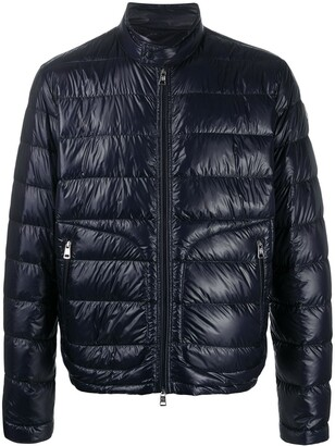 Moncler High-Neck Quilted Jacket