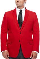 Jf J.Ferrar JF Cotton Cabaret Red Sport Coat - Big & Tall