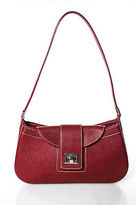 Rafe New York Red Leather White Stitch Shoulder Handbag In Dust Bag