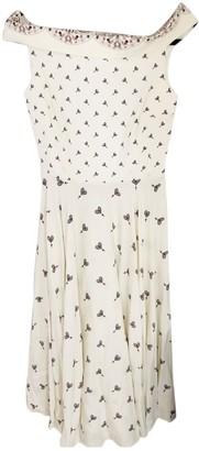 Emilio De La Morena White Silk Dress for Women