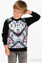 Boohoo Boys City Scene Sweat Shirt