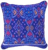 The World In Cushions Royal Blue Ikat Cushion in Tapak