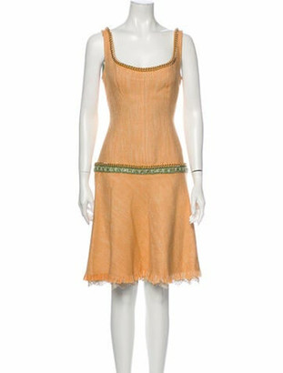 Dolce & Gabbana Silk Knee-Length Dress Orange