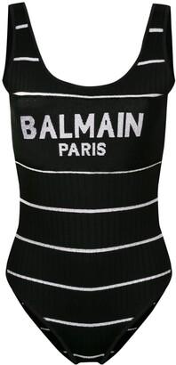 Balmain logo knitted body