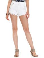 Dollhouse Juniors Shorts, Destroyed Frayed Denim Cutoff