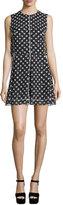 McQ by Alexander McQueen Sleeveless Polka-Dot Popover Dress, Black/White