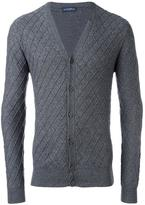 Ballantyne jacquard v neck cardigan - men - Cashmere/Wool - 48