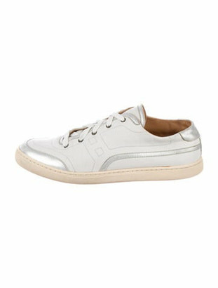 Hermes Leather Sneakers White