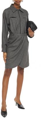 BA&SH Wrap-effect Pleated Twill Shirt Dress