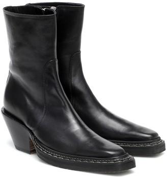 Acne Studios Leather cowboy boots