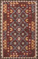 Momeni Rugs TANGITAN-7RED3656 Tangier Collection Hand Made Rug, 3-Feet 6-Inch by 5-Feet 6-Inch, TAN-7, Red