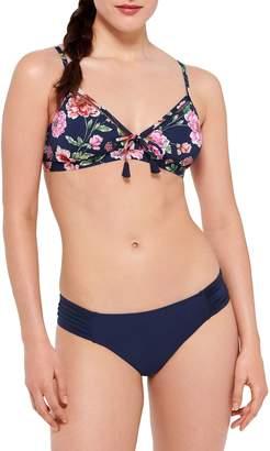 Couture Beach 4T51 Floral-Print Bikini Top