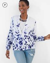 Chico's Floral Bomber Jacket