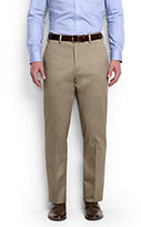 Classic Men's Long Comfort Waist No Iron Twill Dress Trousers-French Walnut