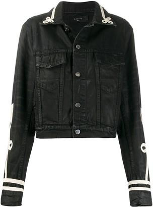 Amiri Cord-Embellished Denim Jacket