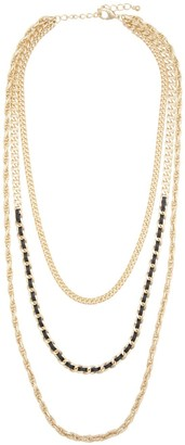 ELOQUII Layered Metal Chain Necklace