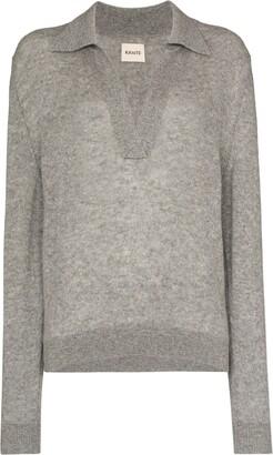 KHAITE Jo cashmere polo sweater