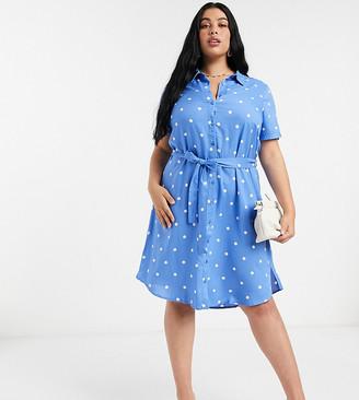 Junarose shirt dress in spot
