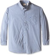 Dockers Big-Tall Long Sleeve No Wrinkle Signature Button Down Collar Unsolid Solid Shirt