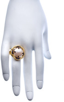 Indulgems Pearl Coin Gold Branch Ring