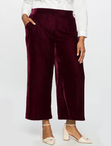 ELOQUII Plus Size Studio Cropped Velvet Pant