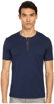 Dolce & Gabbana Short Sleeve R-Neck T-Shirt w/ Buttons