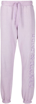 Bornxraised Embroidered Logo Track Trousers
