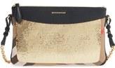 Burberry 'Peyton' House Check & Sequin Crossbody Bag