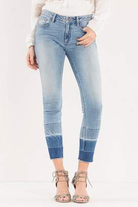 Miss Me Ombre Released-Hem Ankle-Skinny