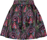 Alice + Olivia Stora printed satin mini skirt