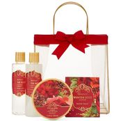 Lila Grace Winter Rose Bath Gift Set
