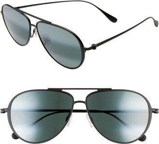 Maui Jim Shallows PolarizedPlus(R)2 59mm Aviator Sunglasses