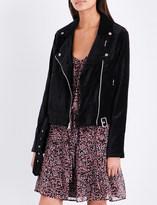 Paige Shanna velvet biker jacket